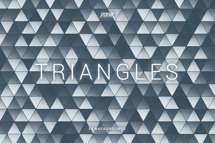 Triangles | Colorful Abstract Mosaic Backgrounds