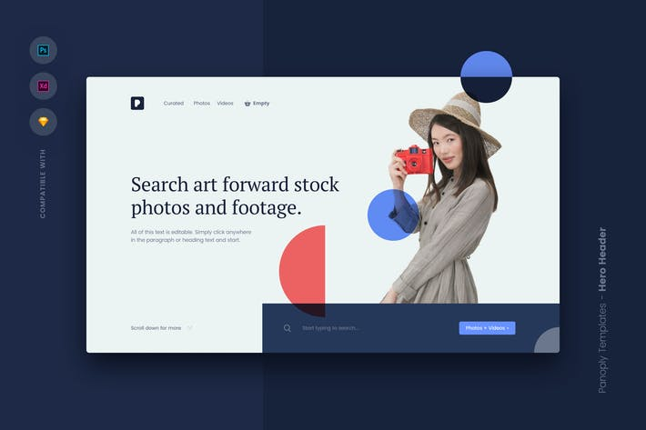 Thumbnail for Web Templates UI Kit - Hero Header 5