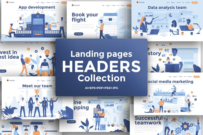 Thumbnail for Landing page template on various topics