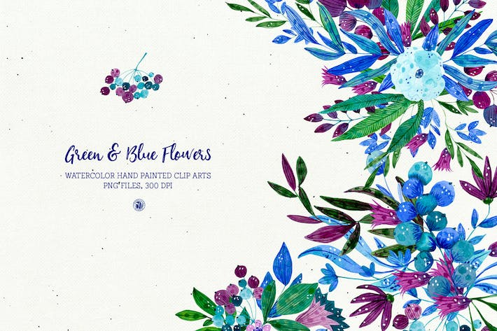 Thumbnail for Green and Blue Flowers