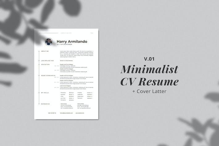 Minimalist CV Resume Template Vol. 4