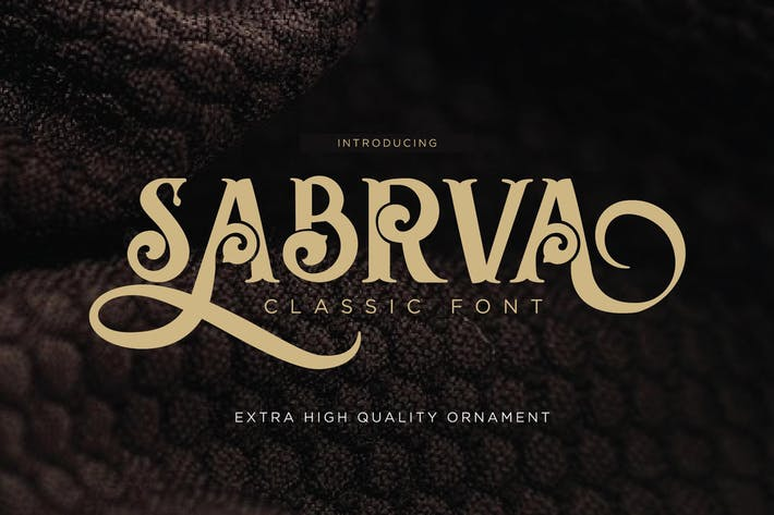 Thumbnail for Sabrva - Vintage Font