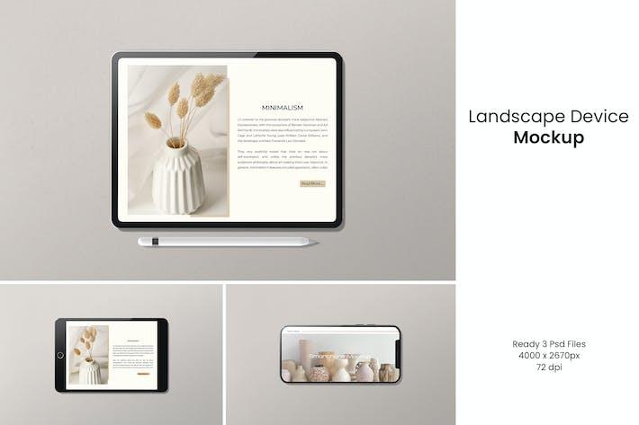 Landscape Device Mockup
