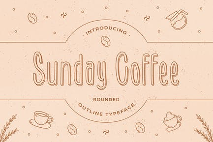 Sunday Coffee - Fuente de contorno redondeado