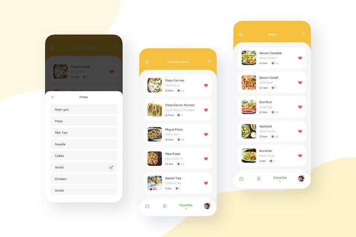 Favorite - Food Delivery Mobile UI Kit nft