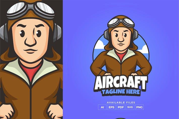 Thumbnail for Aircraft Pilot Logo Design