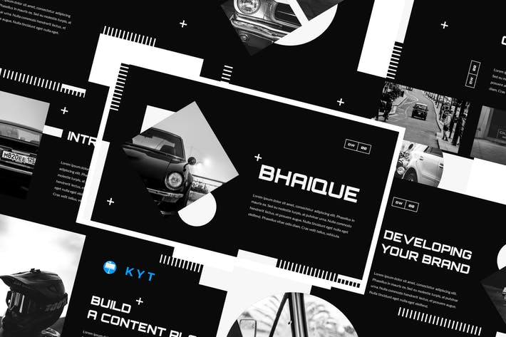 Thumbnail for BHAIQUE - Black and White Keynote Template