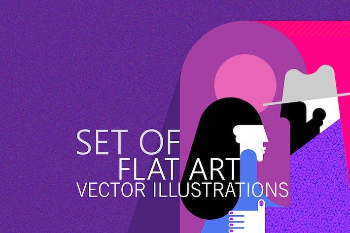 Thumbnail for Couple Saying Goodbye vector artworks (5 options)