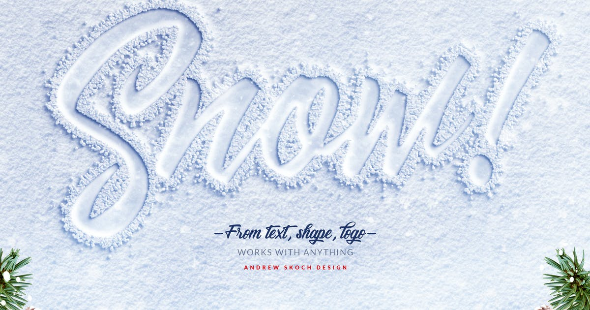 Download Snow Lettering - Photoshop Action by Sko4