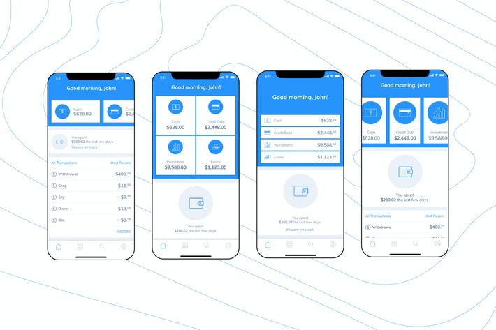 Thumbnail for Mobile Finance Home Ui - FD