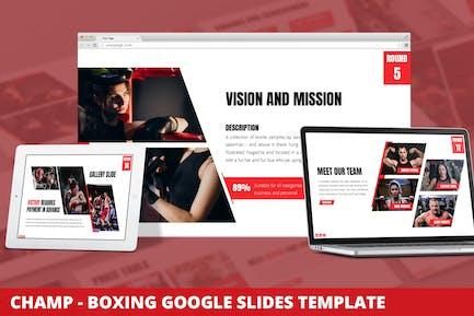 Champ - Boxing Google Slides Template