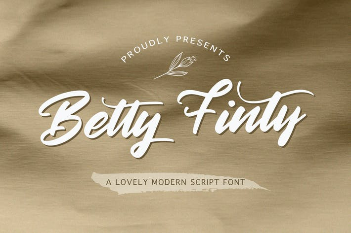 Thumbnail for Betty Finty - Fuente de escritura moderna