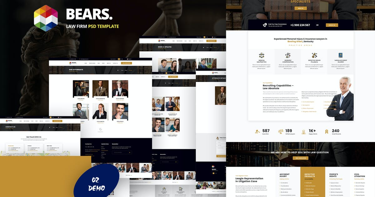 Download Bear's - Law Firm PSD Template by websroad