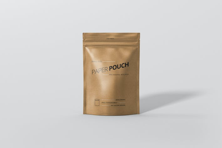 Thumbnail for Paper Pouch Bag Mockup Small Size