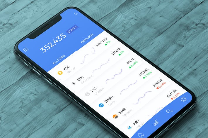 Thumbnail for Cryptocurrency Market Analyze Mobile Ui - H