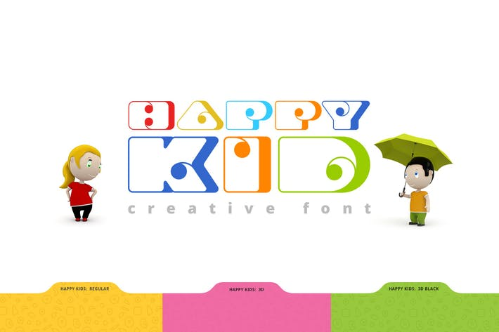 Thumbnail for Happy Kid Creative Font