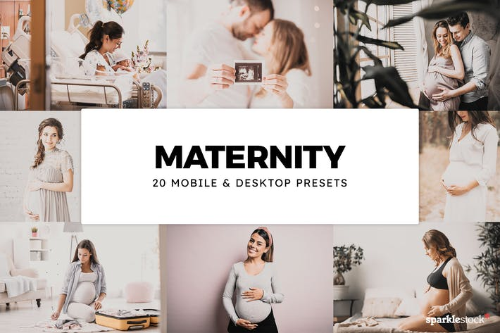 Thumbnail for 20 Maternity Lightroom Presets & LUTs