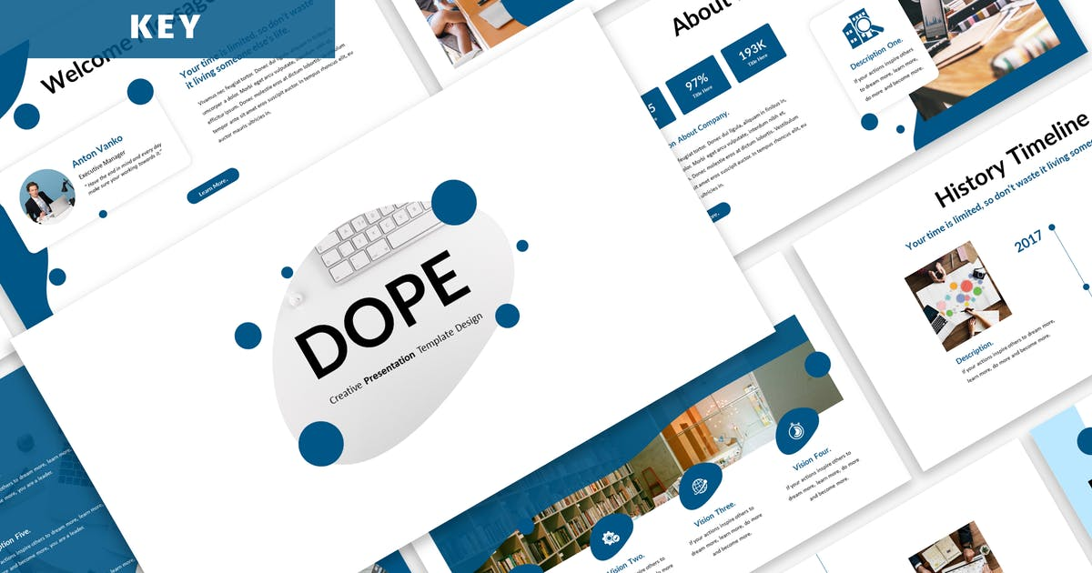 Download Dope - Business Keynote Template by Blesstudio
