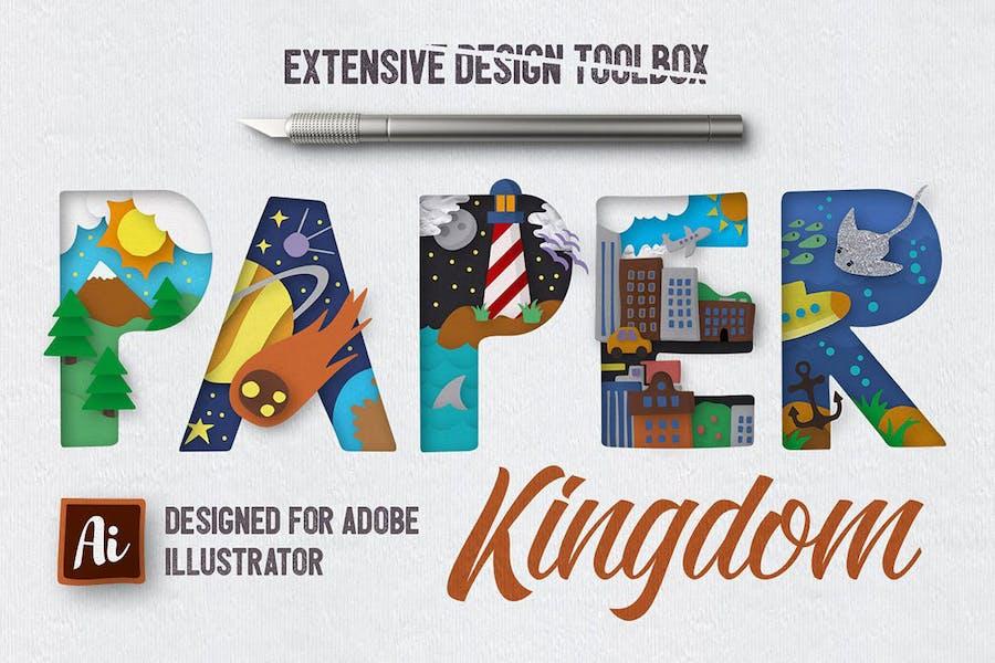 Estilos gráficos Papel Kingdom Illustrator