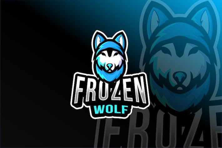 Thumbnail for Шаблон логотипа замороженного волка Esport