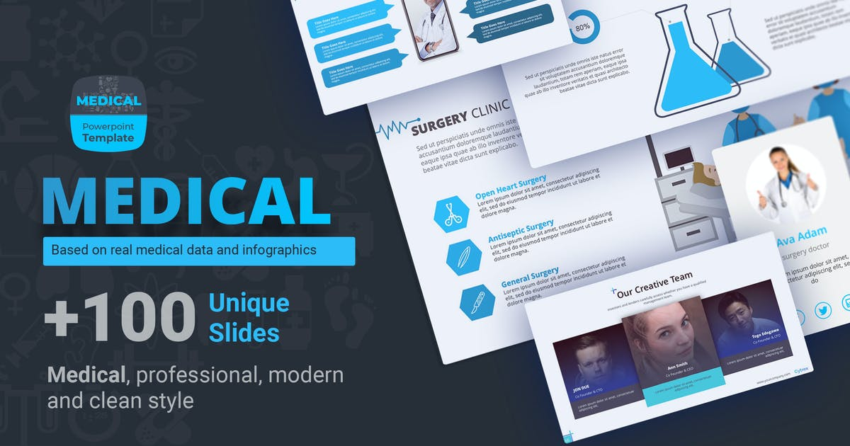 Download Medical presentation powerpoint template by Premast