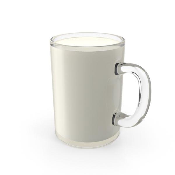 Стеклянная кружка молока
