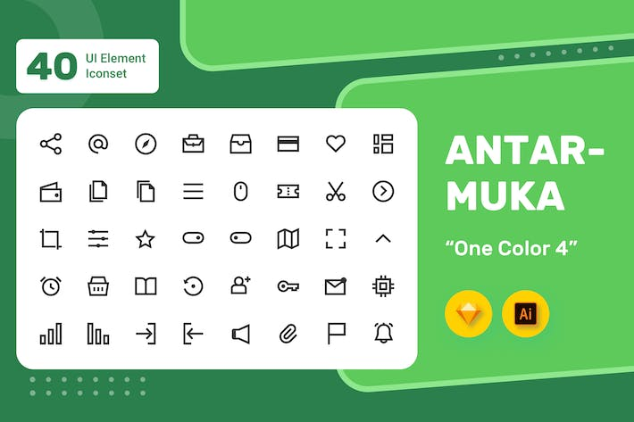 Thumbnail for Antarmuka - UI Element Iconset - One  Color 4