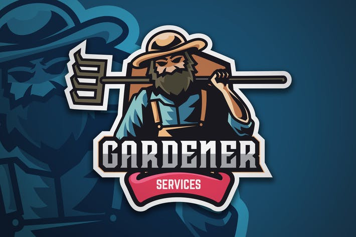 Thumbnail for Gardener Logo Badge Vector Template