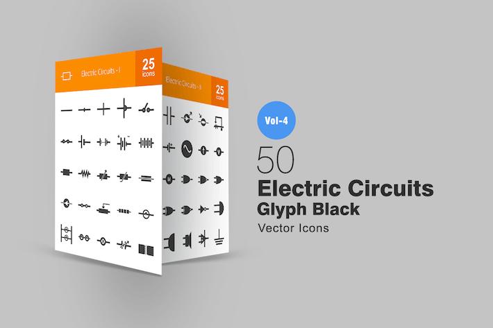 Thumbnail for 50 Электрические цепи Иконки глифов