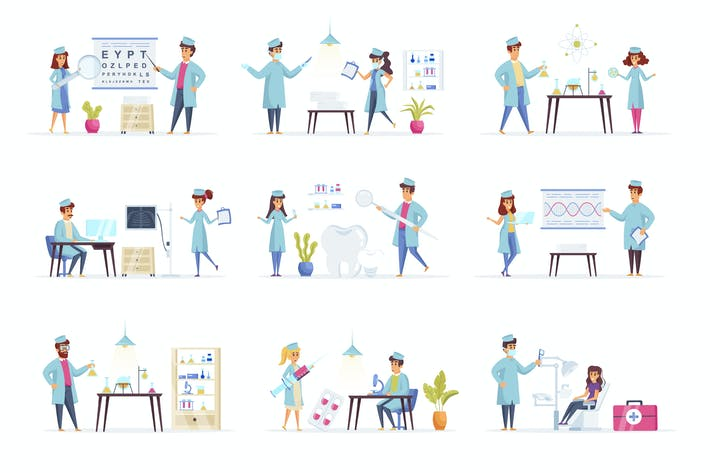 Thumbnail for Medical People Character Situation Scenes