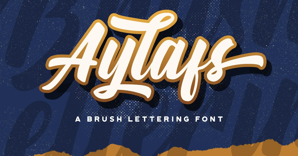 Download Aylafs - Bold Script Font by StringLabs