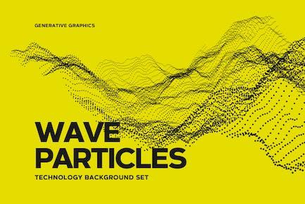 Conjunto de fondo de partículas de onda digital