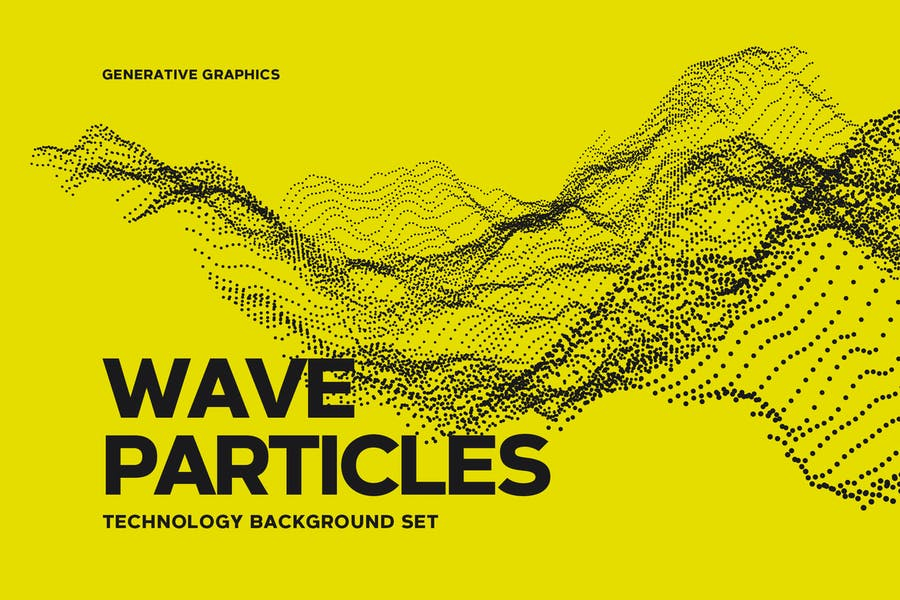 Digital Wave Particles Background Set