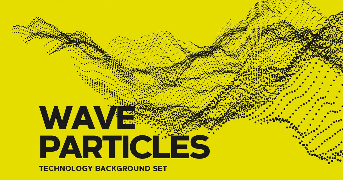 Download Digital Wave Particles Background Set by themefire