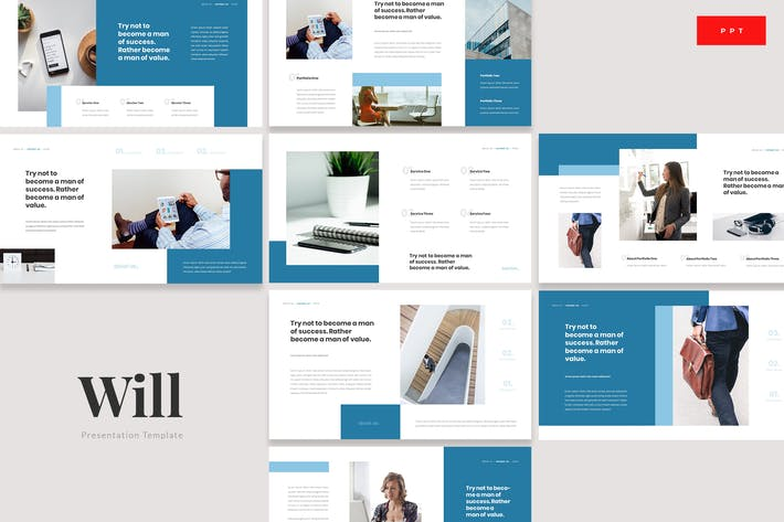 Thumbnail for Will - Insurance Protection Powerpoint Template