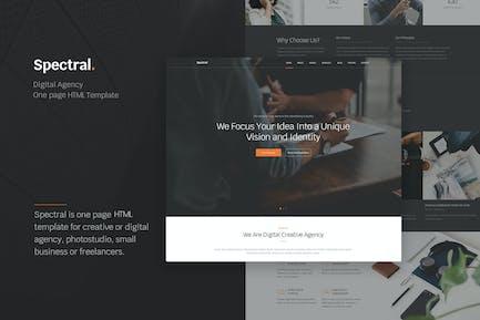 Spectral - Agentur eine Seite HTML5 Vorlage