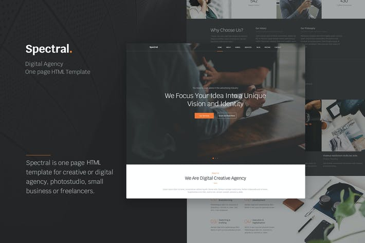 Thumbnail for Spectral - Agency One Page HTML5 Template
