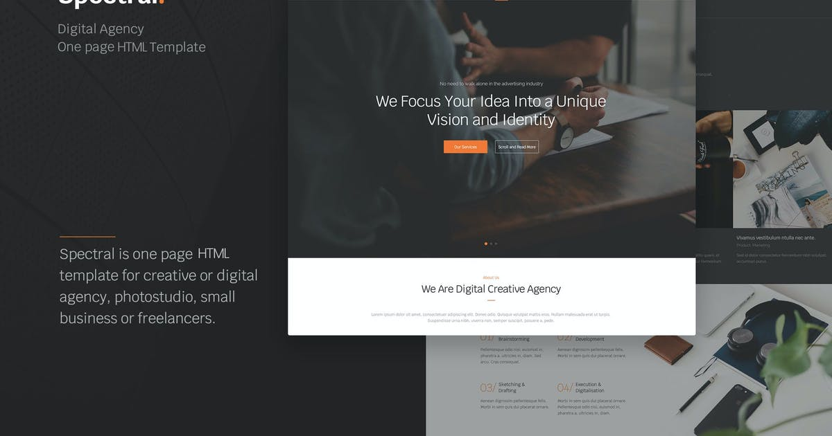 Download Spectral - Agency One Page HTML5 Template by Nunforest