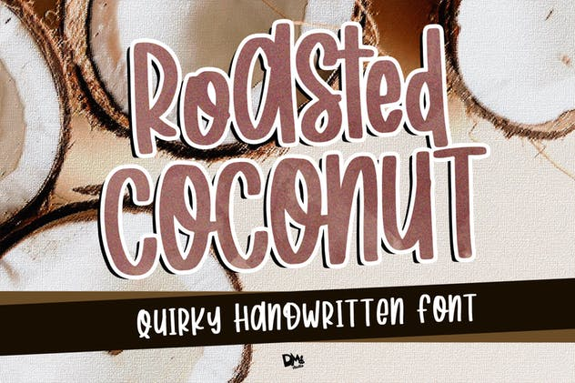 Roasted Coconut - Quirky Handwritten Font - product preview 4