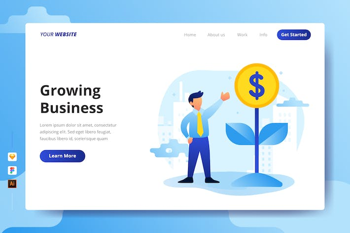 Thumbnail for Growing Business - Landing Page