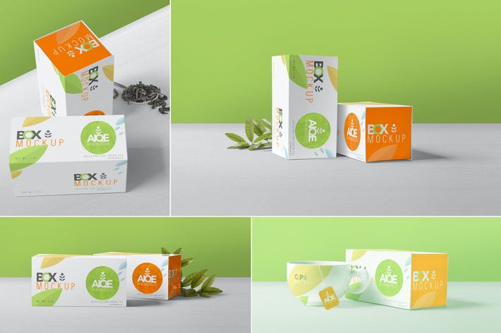 Thumbnail for Tea Packaging Box Mockups