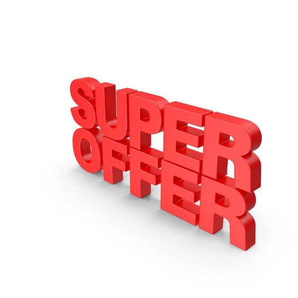 Super Offer 3D Text