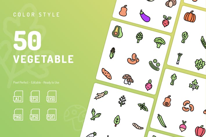 Thumbnail for Vegetable Color Icons