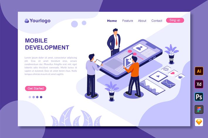 Thumbnail for Mobile Development - Landing Page