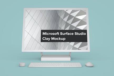 Microsoft Surface Studio Clay Mockup Front