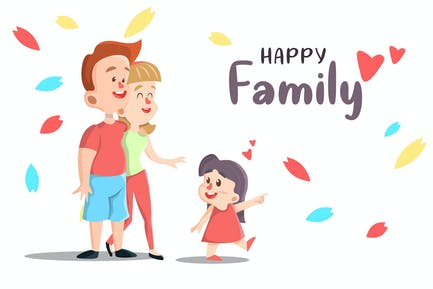 Happy Family - Vector illustration