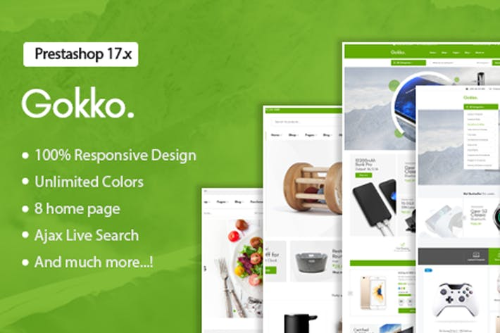 Thumbnail for Gokko - Responsive Prestashop 1.7 Theme