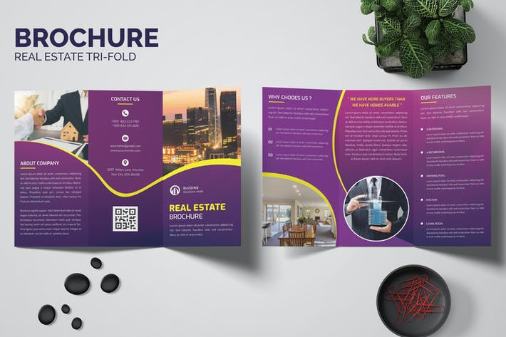 Real Estate Trifold Brochure Templates
