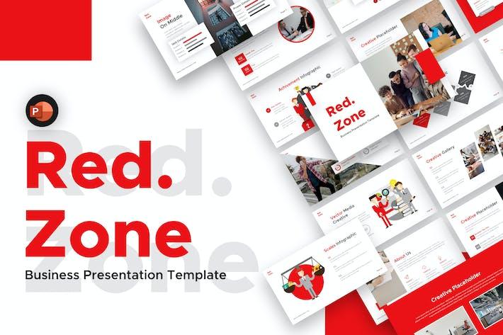 Шаблон бизнес-презентации Red Zone