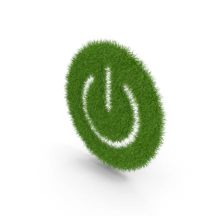 Grass Power Button On Off Symbol